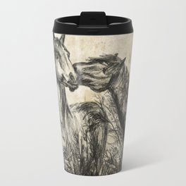 Kiss_Charcoal drawing vintage paper Travel Mug