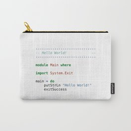 Hello geeks (hello in Haskell) Carry-All Pouch