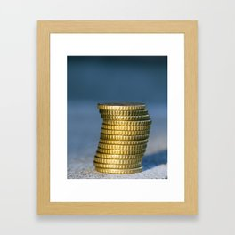 Euro photographed close up Framed Art Print