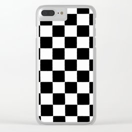 Checkered abstract background Clear iPhone Case