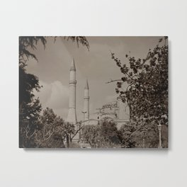 "Sultan Ahmed Mosque (""Blue Mosque"", Istanbul, TURKEY) from Sultan Ahmet Park Metal Print"