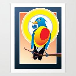 Bird Eye Blue Glass Cherry Art Print