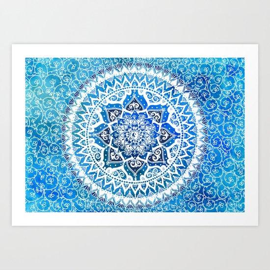 Watercolour Yin Yang Mandala Art Print