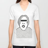 shaun of the dead V-neck T-shirts featuring Shaun William Ryder by daniel davidson