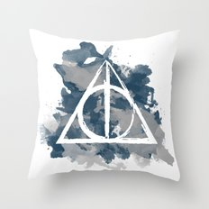 The Deathly Hallows (Ravenclaw) Throw Pillow