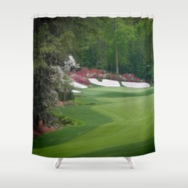Augusta Amen Corner Golf Shower Curtain