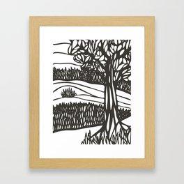 Live Oak and Marsh Framed Art Print
