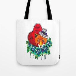 Fox and fruit Tote Bag
