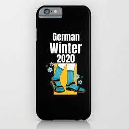German Winter 2020 german with socks and sandals iPhone Case