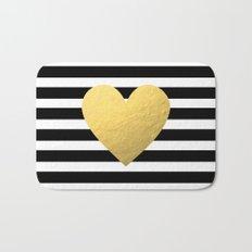 Gold Heart Bath Mat