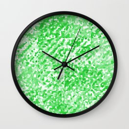 Green Delight (Squares) Wall Clock