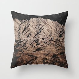 dark mountains. night photography. Throw Pillow