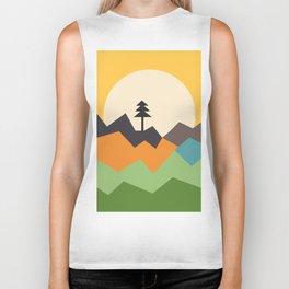 Sunset on the Mountains Biker Tank