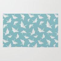 origami Area & Throw Rugs featuring Origami by Albardado