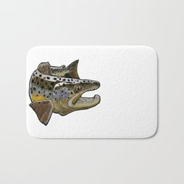 Killer Brown trout Bath Mat