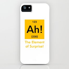 Ah element of surprise iPhone Case