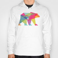 neon genesis evangelion Hoodies featuring Fractal Bear - neon colorways by Picomodi