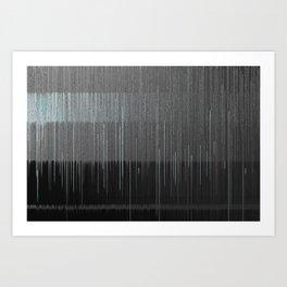Gray Blue 01 Art Print
