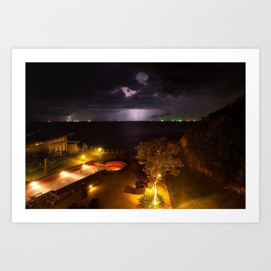 Storm on my paradise Art Print