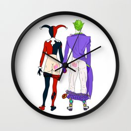 LOVE is no BUTT Joke - Classic Version Wall Clock