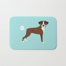 Boxer funny fart dog pure breed gifts dog lovers Bath Mat