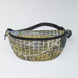Lobster traps piled high on the Portsmouth New Hampshire docks Fanny Pack