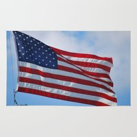 american flag Area & Throw Rugs featuring American Flag by Sarah Shanely Photography
