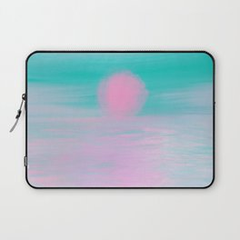 Abstract lavender teal pink watercolor sunset Laptop Sleeve