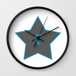 Initials   Star   C Wall Clock