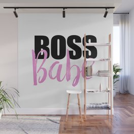 Boss Babe | Black & Pink Wall Mural