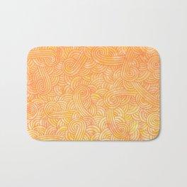 Yellow and orange swirls doodles Bath Mat