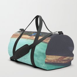 Two Chairs at the Pool Duffle Bag