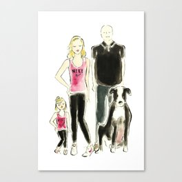 Custom Family Portrait Canvas Print