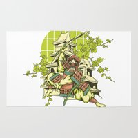 asian Area & Throw Rugs featuring Asian spring by Tshirt-Factory
