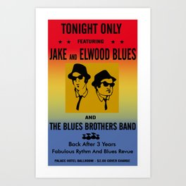 Mission From God Blues Brothers Art Print