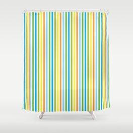 Colourful Pinstripes Shower Curtain