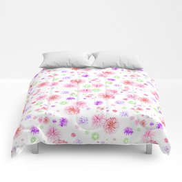 Red fire works Comforters