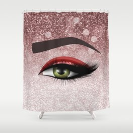 Glam diamond lashes eye #2 Shower Curtain