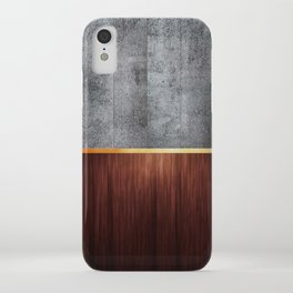 Wood And Concrete iPhone Case