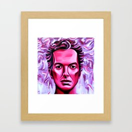 Joe Strummer is Burning Framed Art Print