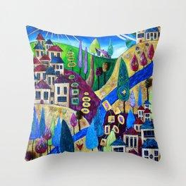 Delphi 4 Throw Pillow