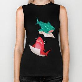 Pink Shark and Whale Shark Biker Tank