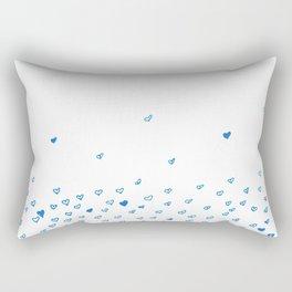 Blue hearts cloud Rectangular Pillow