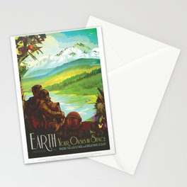 Earth / Your oasis in space poster Stationery Cards