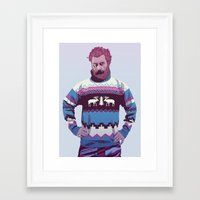 90s Framed Art Prints featuring 80/90s - Trmd by Mike Wrobel