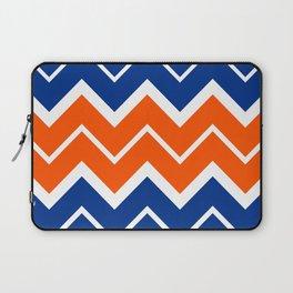 Big Chevron:  Blue + Orange Laptop Sleeve