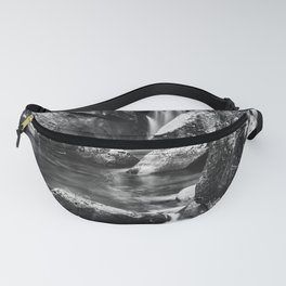 Waterfall in the old forest Fanny Pack