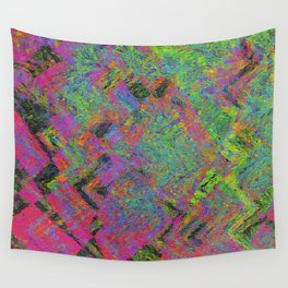 Abstracting Pink Wall Tapestry