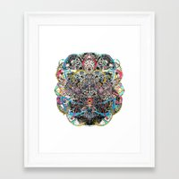 mask Framed Art Prints featuring Mask by Nicole Linde