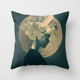 Moonlight Lady Throw Pillow